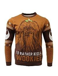 星球大战:Kiss a Wookie Xmas 套头衫 L 棕色 标准