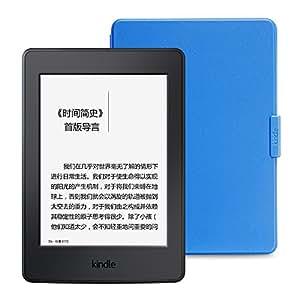 Kindle Paperwhite电子书阅读器 + 原厂保护套超值套装(包含Kindle Paperwhite电子书阅读器-黑、Kindle品牌保护套-孔雀蓝)