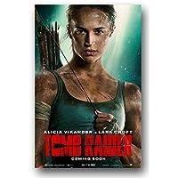 Tomb Raider 海报 - 2018 年电影促销 27.94 x 43.18 厘米 艾丽西娅·维肯德脸
