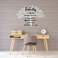家庭树墙贴 - 家庭主题乙烯基装饰,适合家庭、家庭房、厨房或卧室