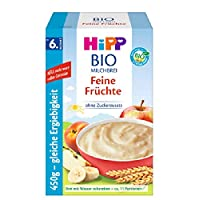 Hipp 喜寶 Bio-牛奶麥片粥 嬰兒輔食 不含添加糖 優享裝 適合6月齡以上的寶寶 細膩果泥 4件裝(4 x 450 g)
