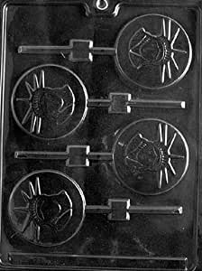 Cybrtrayd P014 Statue of Liberty Lolly Chocolate Candy Mold with Exclusive Cybrtrayd Copyrighted Chocolate Molding Instructions plus Optional Candy Packaging Bundles
