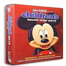 迪斯尼儿歌 4CD珍藏版 100首世界经典知名童谣附歌词 现货