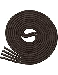 Miscly 打蜡薄圆礼服鞋带[3 对] 3/32 英寸厚