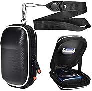 黑色紧凑数码相机包,兼容佳能 PowerShot SX740 SX730 SX720 SX620 HS G9 X,Panasonic Lumix DMC ZS60 ZS50 ZS40 TZ70 TZ60,Sony DSC