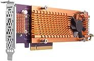 Qnap 双 M.2 22110/2280 SATA SSD 扩展卡(PCIe Gen2 X 2),半高支架预安装,低调平和全高捆绑 PCIe Gen2x4,M.2 PCIe SSD X 4,PCIe Gen2 x8