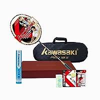 Kawasaki 川崎 中性 全碳素 单拍 矛系列 礼盒装(未穿线) MAO-18Ⅱ-b 多色(亚马逊自营商品, 由供应商配送)