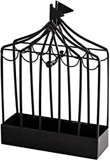Mornenjoy 蚊子线圈架,香架复古便携式铁制灭蚊器和香炉,驱蚊金属框架,适用于家庭户外庭院,客厅(圆形黑色)