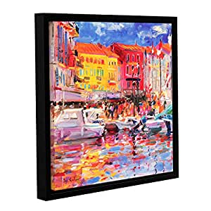 ArtWall Peter Graham's Le Port De St Tropez, Gallery-Wrapped Floater-Framed Canvas, 24 by 24""