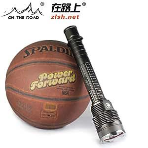 在路上X6 26650强光手电筒可充电手电筒远射打猎夜手电筒户外防水 (三锂电 标配套装(内附:背带+3节5300mAh锂电))