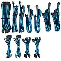 CORSAIR 高级独立袖子 PSU 线缆 Pro 套件 - 蓝色/黑色,2 年保修,适用于 Corsair PSU