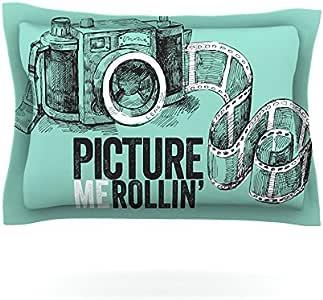 Kess InHouse KESS Original Picture Me Rollin 枕头,76.20 cm x 50.80 cm