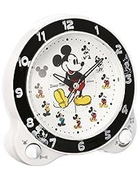 SEIKO 精工 时钟 闹钟 指针 切换式 闹钟 米奇和朋友们 Disney Time 白色珍珠 SEIKO 白色 FD461W