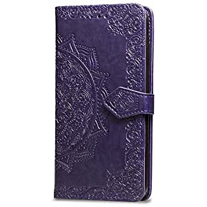 iPhone Mandala 钱包式手机壳Mandala For iPhone 7Plus/8Plus 5.5inch 紫色