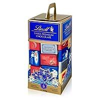 Lindt Swiss Geschenkbox Napolitains, ca. 70 x Mini Schokoladentäfelchen pro Box, 2er Pack (2 x 500 g)