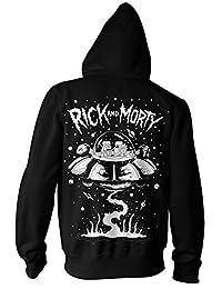 Ripple Junction Rick and Morty Spaceship 成人拉链连帽运动衫