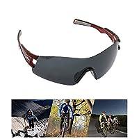 WIKISH 中性款偏光运动太阳镜 UV400 TR90 牢固驾驶太阳镜 * 防紫外线男式女式骑行棒球跑步钓鱼驾驶高尔夫眼镜
