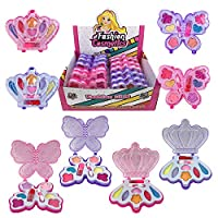 Liberty Imports 小女孩化妆品玩具套装 | 可水洗* | 公主真妆套装 带盒 | 送给孩子的理想礼物 12 Pack Favors 粉红色