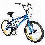 Muddyfox 新女孩/男孩 Silverfox 飞行 Bmx 50.8 cm 自行车蓝色/黑色/褐色 - 蓝色/黑色/棕褐色