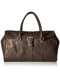 Piel Leather Buckle Flap-Over Satchel