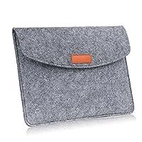 美国MoKo 7-8英寸内胆包 毛毡包 苹果Apple iPad mini 1/2 / 3/4, Samsung Galaxy Tab S2 8.0 / Tab A 8.0 / Tab 4 7.0 & 8.0英寸平板笔记本电脑包 保护套 浅灰色