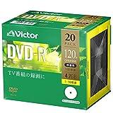 Victor维克托 1次录像用 DVD-R VHR12JP20J1 (单面1层/1-16倍速/20张)