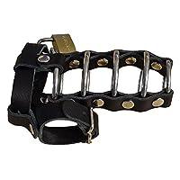 SM-皮革 BDSM Fetisch 地狱门阴茎笼 护肤带 灯笼 包括锁