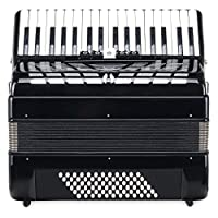 Classic Cantabile Secondo III 72 低音手风琴 (按键式手风琴,3 重奏,34 个高音按键) 带皮带 / 包 黑色 黑色