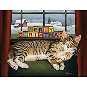 Lang 5.375 x 6.875 Inches Perfect Lucy Mclain Boxed Christmas Card, 18 Cards with 19 Envelopes (1004738)