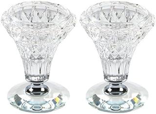 水晶花瓶形状 Shabbat 蜡烛,7.62cm
