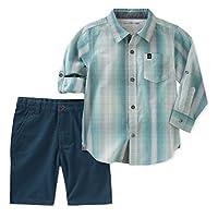 Calvin Klein 男婴长袖衬衫短裤套装,2 件装