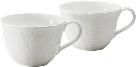 Narumi 鸣海 Honiton Lace系列 早餐马克杯套装 白色 330cc 两个装 可微波炉加热、洗碗机使用 51952-23142