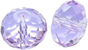 Adabele 奥地利玻璃水晶珠适用于施华洛世奇水晶 Preciosa 耳环手镯项链珠宝工艺制作 轻便紫罗兰色 8mm x 6mm 632181314883