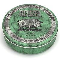Reuzel Pomade Green 发油 中等定型力 1 盒装(1 × 340克)