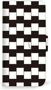 MITAS 智能手机保护壳翻盖型错觉黑白  A 31_URBANO L03 (KYY23)