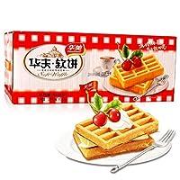 华美 华夫软饼 原味 1200g 整箱装(亚马逊自营商品, 由供应商配送)