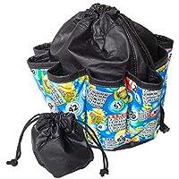 ABS Novelties 蓝色宾戈图案 10 袋手提包,黑色