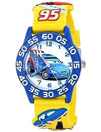 "Disney Kids迪士尼""時間老師""迪士尼汽車動畫系列手表 黃色3D表帶 W001507"