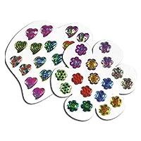 女孩耳环组合 - (36)张卡片,每张 9 对 - 各种样式 - 适合儿童、男孩、派对用品、皮纳塔填充物、儿童礼品袋、狂欢节*