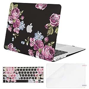 MOSISO 塑料图案硬壳、键盘盖和屏幕保护膜兼容 MacBook Air 11 英寸 11 Inches