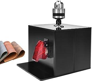MXBAOHENG 电动皮革边缘抛光机 带固定夹 台式抛光机 抛光工具 适用于皮革工艺(机械+夹具)