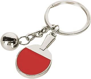 Dinoka) 乒乓球 钥匙扣 可爱 运动 运动 钩 包饰 小巧 金属零件