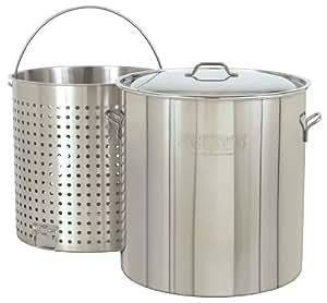 不锈钢汤锅带蒸汽/boil/FRY baskets 银色 122 quarts
