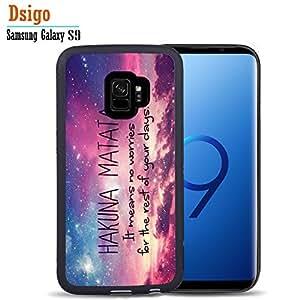 三星 S9 手机壳,Dsigo TPU 黑色全壳保护套三星 Galaxy S9 5.8英寸(2018 年发布)- 我们不易受到 SIGHT KQ 46