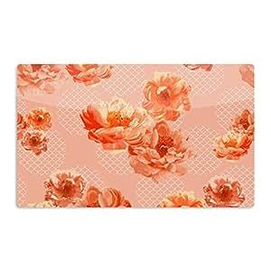"""KESS InHouse Pellerina Design""""蕾丝牡丹""""橙色花卉艺术铝磁铁,5.08 cm x 7.62 cm,多色"""
