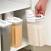 WORLDLIFE 和匠 杂粮储存罐密封米箱储物罐 防虫防潮带刻度米杯米桶收纳箱 2kg (5个装)