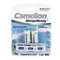 Camelion 飞狮 AlwaysReady系列低自放电5号镍氢充电电池 2300mAh*2支卡装