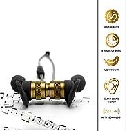 Pillarson 蓝牙耳塞无线入耳式耳机适用于 iPhone 和 Android - 室内、室外、健身房运动 - CVC 6.0 降噪、Apt-X 立体声 - 磁性、防汗 - 长达 7 小时的播放时间。