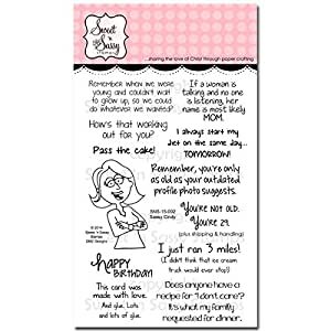 """Sweet 'n Sassy Clear Stamps 4""""X6""""-Sassy Cindy"""