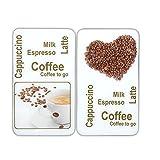 Wenko 2521435500 30 x 1.8-4.5 x 52 厘米咖啡娱乐通用盖板,适用于各种类型的锅/钢化玻璃,2件套,多色
